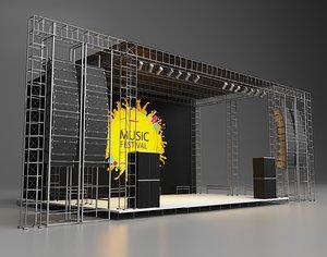 concert scene 3D model