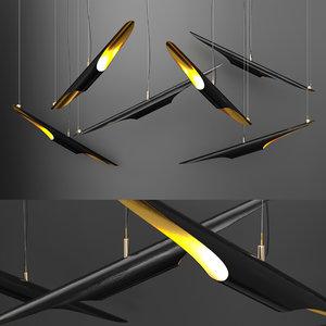 3D model coltrane chandelier