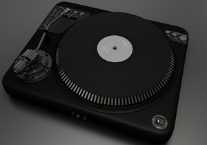 3D turntable devices electronic model
