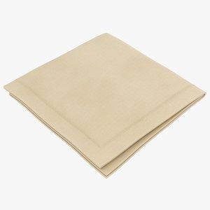 3D model realistic folded napkin 3