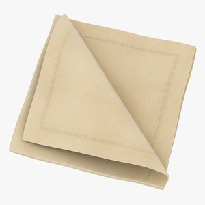 realistic folded napkin 4 3D