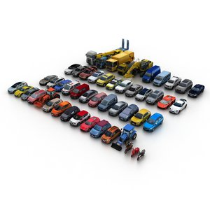 city vehicles 3D model