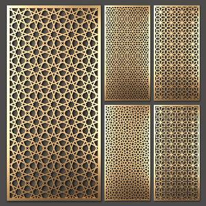 decorative partitions 3D