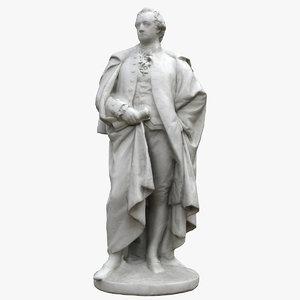 3D goethe statue model