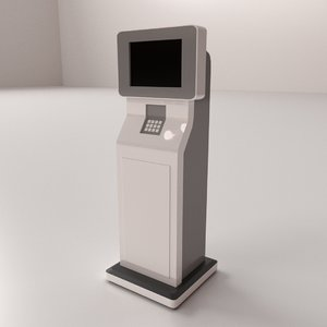 3D model computer kiosk v2