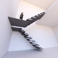 3D special staircase created revit