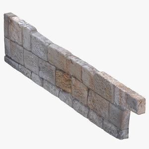 stone wall foundation 01 model