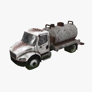 3D model abandoned truck car
