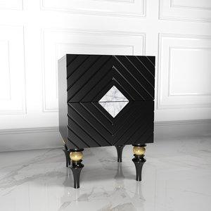 3D model bedside table ambicioni lanotti