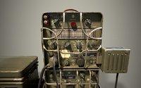 3D model radio ww2 grc-9