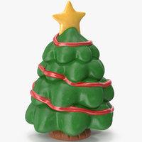 3D christmas tree figurine 3 model