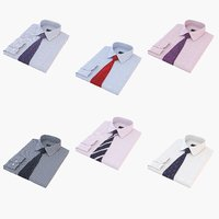 Folded Shirt With Tie Collection