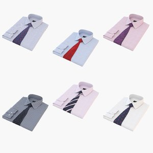 folded shirt tie 3D model