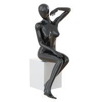 seated black female mannequin 3D