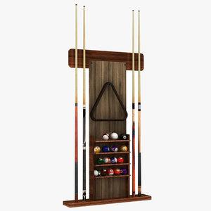 3D model billiard stand