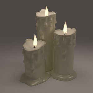 melted candles model