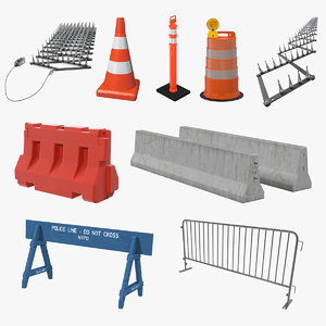 3D road barriers 5 model
