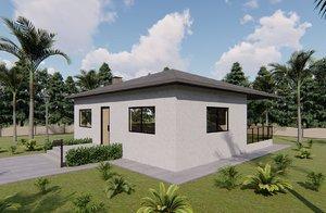 3D model villa design basic