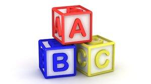 abc cubes 3D model
