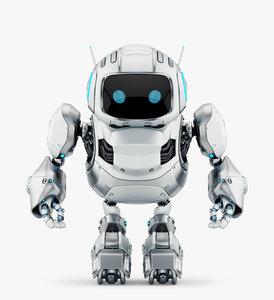 3D model huge cute robot
