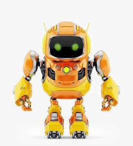 huge cute robot ii 3D model