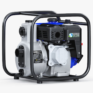 gasoline engine water pump 3D model