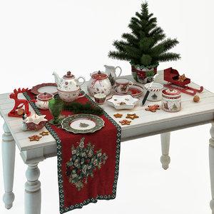 3D villeroy boch christmas tableware model