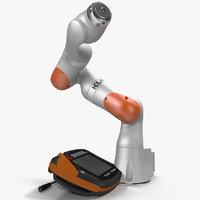 Kuka Robot LBR IIWA 7 R800 Set Rigged for Cinema 4D 3D Model