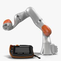 Kuka Robot LBR IIWA 7 R800 Set Rigged for Maya 3D Model