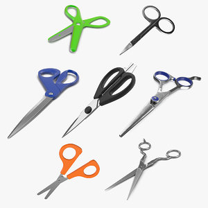 scissors 3 3D model