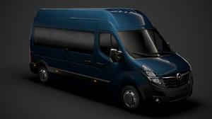 3D opel movano l3h3 minibus model