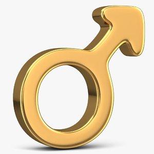 male gender sign 3D