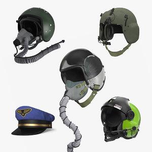 pilot hats 2 3D model