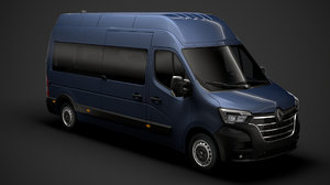 3D renault master l3h3 minibus model