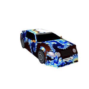 sports car fractal 3D model