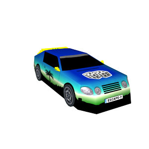 3D sports car escape