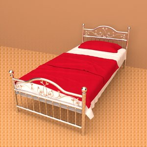 3D modern classic bed