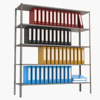 3D model office shelf