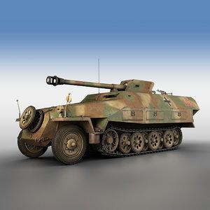 3D sd kfz 251 22 model