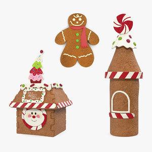gingerbread cookie 2 3D model