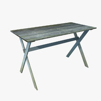 timeworn table wood 3D model
