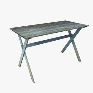 timeworn table wood 3D model