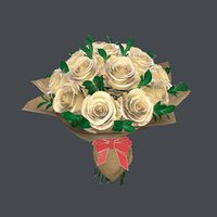 3D bouquet realistic model