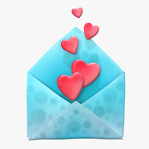 stylized envelope 3D model