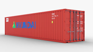 3D container 40ft model