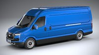 generic van 2020 3D model
