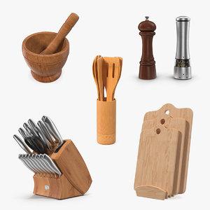 kitchenware 2 kitchen utensils model
