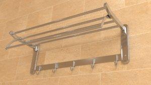 3D model bathroom hanger