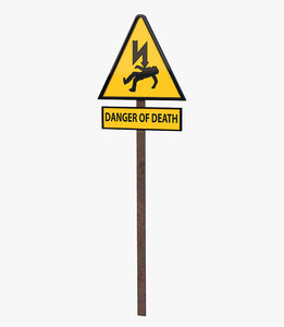 3D model sign danger signal