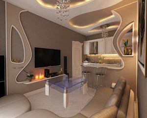 interior design elman livingroom 3D model